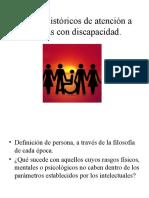 1. Modelos Históricos de Atención a Personas Con Discapacidad