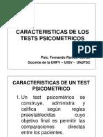 3.  CARACTERISTICAS DE LOS TEST PSICOMETRICOS