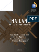THAILAND Trial Observation Report on the Criminal Trial and Investigation of the Enforced Disappearance of Somchai Neelapaichit