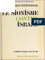 Nathan Weinstock - Le sionisme contre Israël