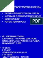 Immune Throbocytopenic Purpura