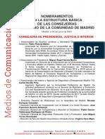 210630 Nombramientos en Estructura Basica Consejerias