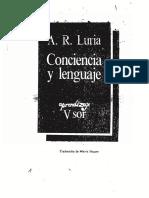Luria Consciencia e Linguagem
