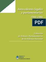 Ley de Defensa Nacional. Antecedentes legales y parlamentarios.1948-1985