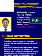 human nutrition, assessment and PEM
