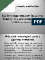 UNIP – Saude e Segurança Aula 1 21-08