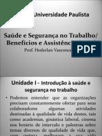 UNIP – Saude e Segurança Aula 2 28-08