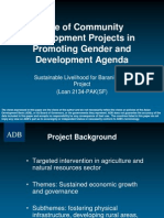 Role of Community Development Projects in Promoting Gender and Development Agenda