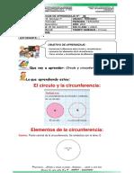 Guía n. 8. círculo y circunferencia.geometría. tercero