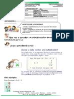 Guía n.16. multiplicación. (Segunda parte) tercero^