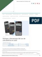Ventajas y Desventajas del uso de calculadoras en clase