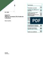 s7200 Text Display User Manual Fr-FR Fr-FR