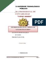 INFORME DE PRACTICAS PRE PROFESIONALES MODELO