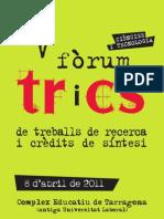 V Fòrum TRiCS. Publicació