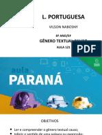 Língua Portuguesa 6 Ano Slide Aula121