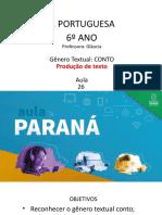 Língua _ Portuguesa_6 Ano_ Slide Aula 26