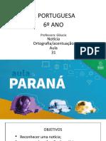 Língua _ Portuguesa_6 Ano_ Slide_ Aula 31