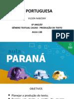 Língua _ Portuguesa_6 Ano_ Slide_ Aula138