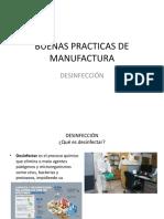 Buenas Practicas de Manufactura-Desinfeccion