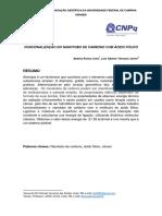 FUNCIONALIZAÇÃO DO NANOTUBO DE CARBONO COM ÁCIDO FÓLICO