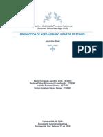 Produccion de Acetaldehido a Partir de e