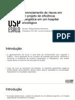 Apresentação Monografia Gerenciamento de Projetos - Rodrigo Miranda Nascimento