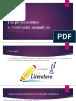Las proposiciones subordinadas sustantivas (7)