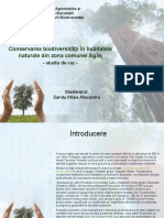 Conservarea biodiversitatii în habitatele naturale din zona comunei Agas- final