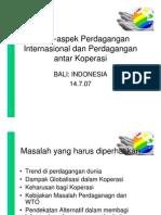 ASPEK-ASPEK PERDAGANGAN INTERNASIONAL DAN KOPERASI