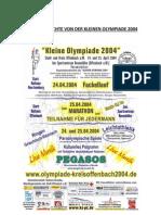 ZEITUNGSBERICHTE VON DER KLEINEN OLYMPIADE 2004