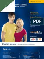 Informator 2011 - Studia I stopnia - Wyższa Szkoła Bankowa w Poznaniu Wydział Zamiejscowy w Chorzowie