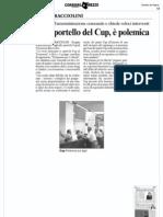 Taglio Allo Sportello Del Cup - Corriere Ar 03.04.11