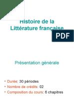 Histoire de la Littérature française COURS