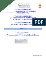 Test Selezione Settembre 2015