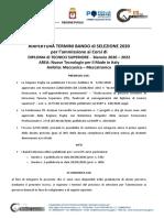 Bando Selezione 2020 2022 Riapertura Bando 1