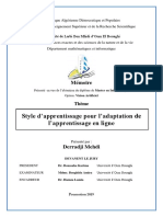 Le Mémoire ' Style d'Apprentissage Pour l'Adaptation de l'Apprentissage en Ligne '
