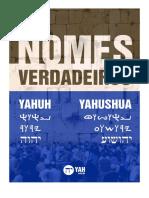 Nomes Verdadeiros Yahuh Yah Yahushua Livro Alexandre Torelli 052020