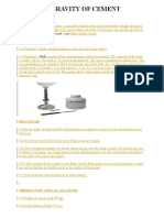 SPECIFIC GRAVITY OF CEMENT