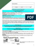 1_BE 5 - MAT 4º ANO AGOSTO - Home School Palmas
