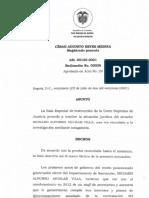 auto de la Corte resolución situación jurídica Richard Aguilar