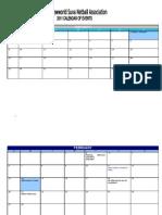 SNA calendar