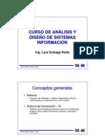 Curso de analisis y diseño de sistemas de informacion
