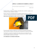 5 Formas de classificar o acidente de trabalho o item 2 é controverso