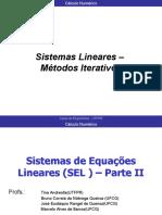 Sistemas Lineares – Métodos Iterativos