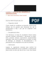 ETAPAS Y TÉCNICAS DEL DESARROLLO ORGANIZACIONAL