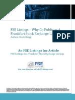 FSE Listings Why Go Public as a Frankfurt Stock Exchange Listing