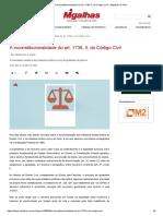 A inconstitucionalidade do art. 1736, I, do Código Civil - A necessária releitura dos institutos jurídicos à luz da igualdade de gênero (Ana Caroline dos Santos Accioli)