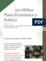 Plano económico y político dictadura militar Chile