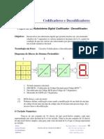Pratica 1  -  Codificadores e Decodificadores