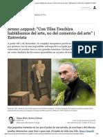 """Bruno Zeppilli_ """"Con Tilsa Tsuchiya Hablábamos Del Arte, No Del Comercio Del Arte"""" _ Entrevista _ LUCES _ EL COMERCIO PERÚ"""